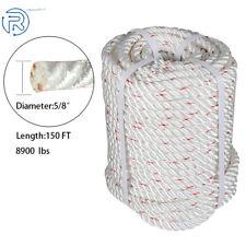 58x150 Arborist Bull Rope Durable Pulling Rigging Rope Nylon Polyester Blend