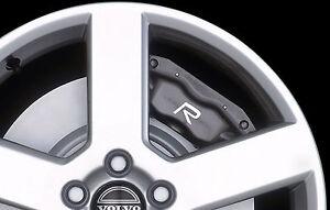 6-x-Volvo-R-Design-Aufkleber-fuer-Bremssaettel-C30-S40-S60-S80-V50-V70-Emblem-Logo