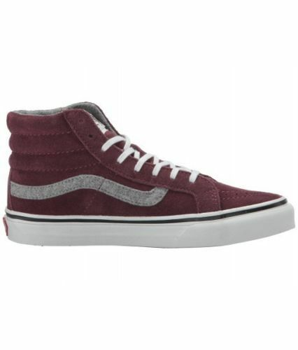Vans Sk8 Hi Slim Slim Vintage Suede Red Mahogany Shoes Mens 3.5 Women 5