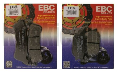 Honda NC700X NC700 ABS 2012-2014 Set of EBC Front and Rear Brake Pads