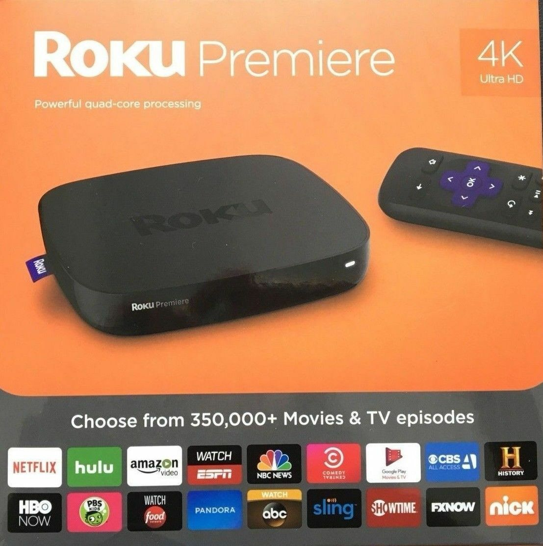 s-l1600 NEW! Roku Premiere 4K Ultra HD Streaming Media Player  (2016 Model)