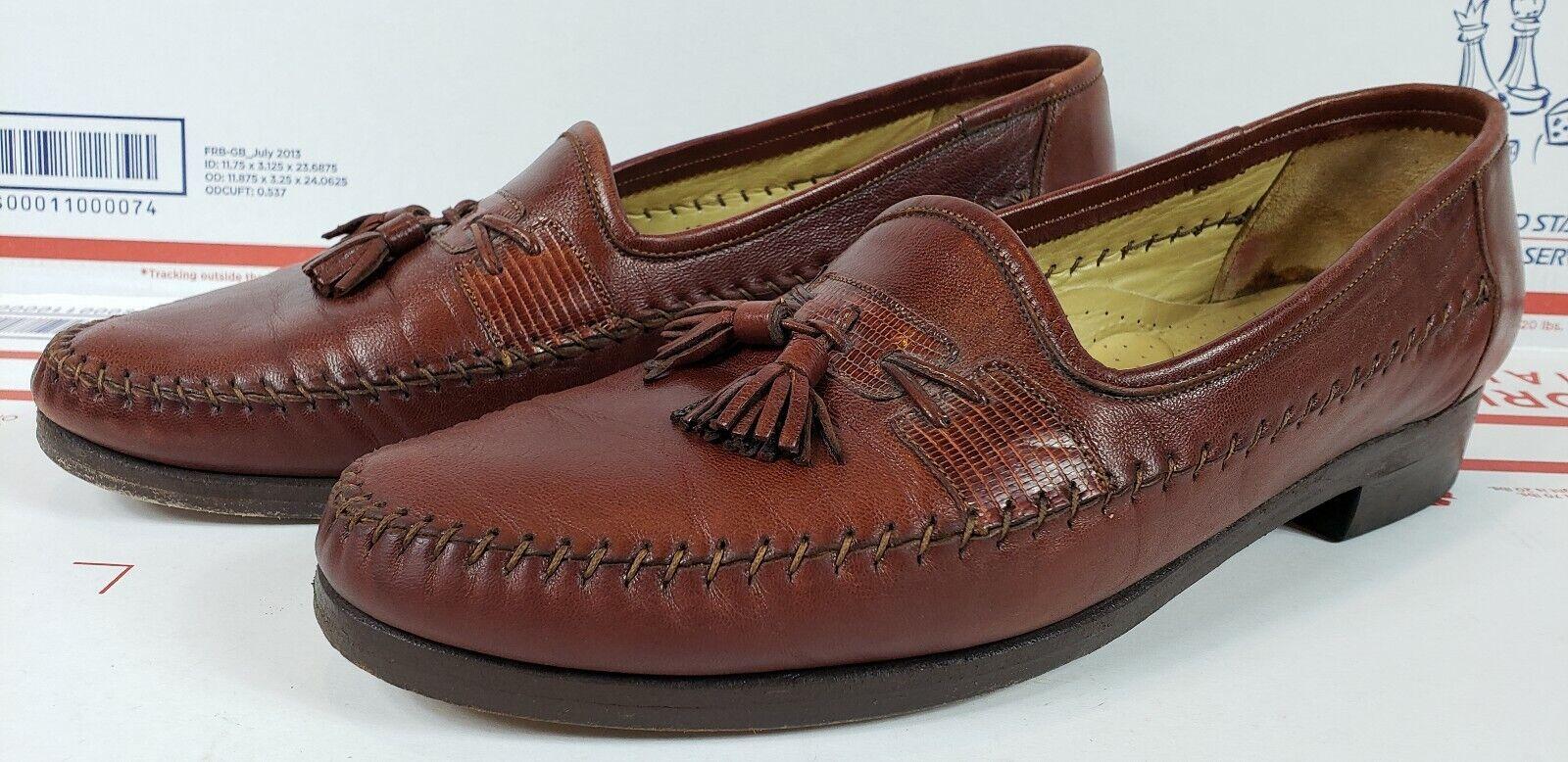 Homme marron ITALY IN MADE Chaussures Slip on Tassel cuir en