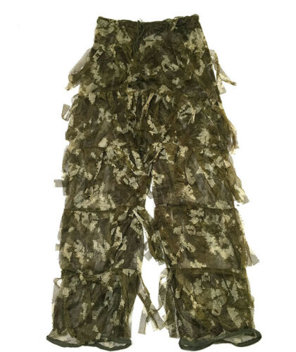 3D Pattern Military Camouflage Ghillie Suit Camo CS Tactical Training Outdoor