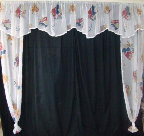 frölich bedruckt Kinderzimmer Gardine mit Behang Scheibengardine Seitensch o