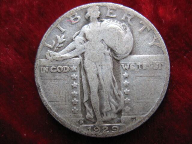 1929-D Standing Liberty Silver Quarter Dollar, NICE ORIGINAL COIN! SCARCE DATE!