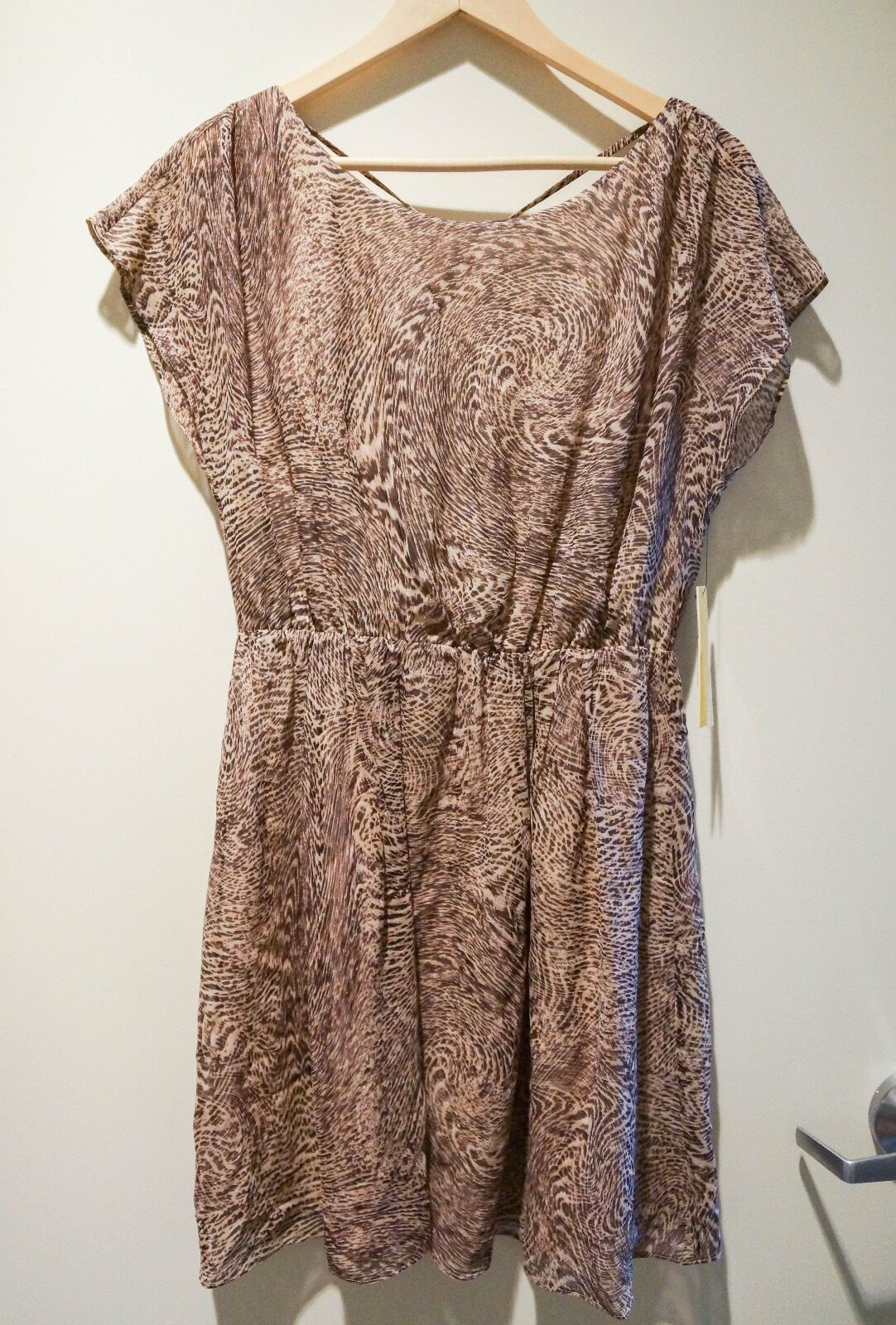 Alice and Olivia C203640600 braun Multi Silk Dress Medium