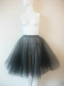 Plus Size Rock And Roll Black 2 Layers Net Skirt Circle Under Skirt Petticoat