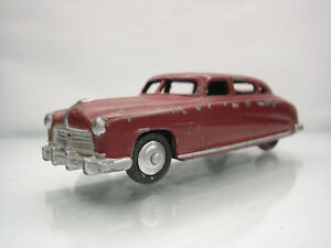Diecast-Dinky-Toys-Hudson-Sedan-Red-Brown-Used-Condition-Repainted