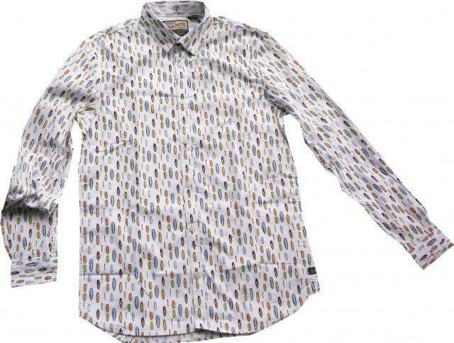 Petrol Industries stylisches Freizeithemd weiß Paddleboardprint SIL448     | Zuverlässige Leistung