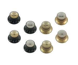 VintageTop-Hat-Knobs-Foil-Top-For-Les-Paul-Style-Guitars-SG-etc-Embossed