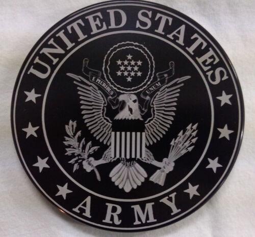 "4/"" Rd. U.S HMC Billet Aluminum Trailer Hitch plug Cover ARMY"
