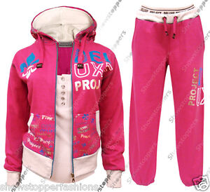 Age-7-8-9-10-11-12-13-GIRLS-TRACKSUIT-Girls-Hoodie-POCKET-SUIT-CLOTHING-Joggers