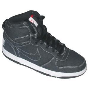 fc985ba5 Niña Niño Júnior Nike Big Alto Azul Marino Zapatillas de Lona 458702 ...