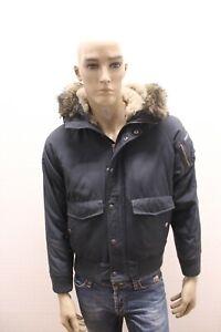 Giubbino-WOOLRICH-Uomo-Jacket-Coat-Giubbotto-Blu-Jacke-Man-Taglia-Size-XS