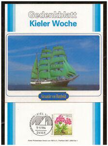 Rfa-Feuillet-Commemoratif-Semaine-de-Kiel-1994-Alexander-de-Humboldt-Sst-Kiel
