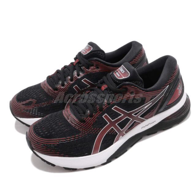 Asics Gel Nimbus 21 Black Classic Red Men Running Shoes Sneakers 1011A169-002