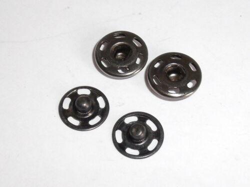 10 unidades pulsadores botones pulsador para suturar 12 mm antracita nuevo inoxidable