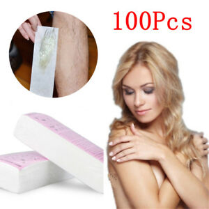 100Pcs-Non-woven-Hair-Removal-Paper-Depilatory-Strips-Epilator-Waxing-Tools-NEW
