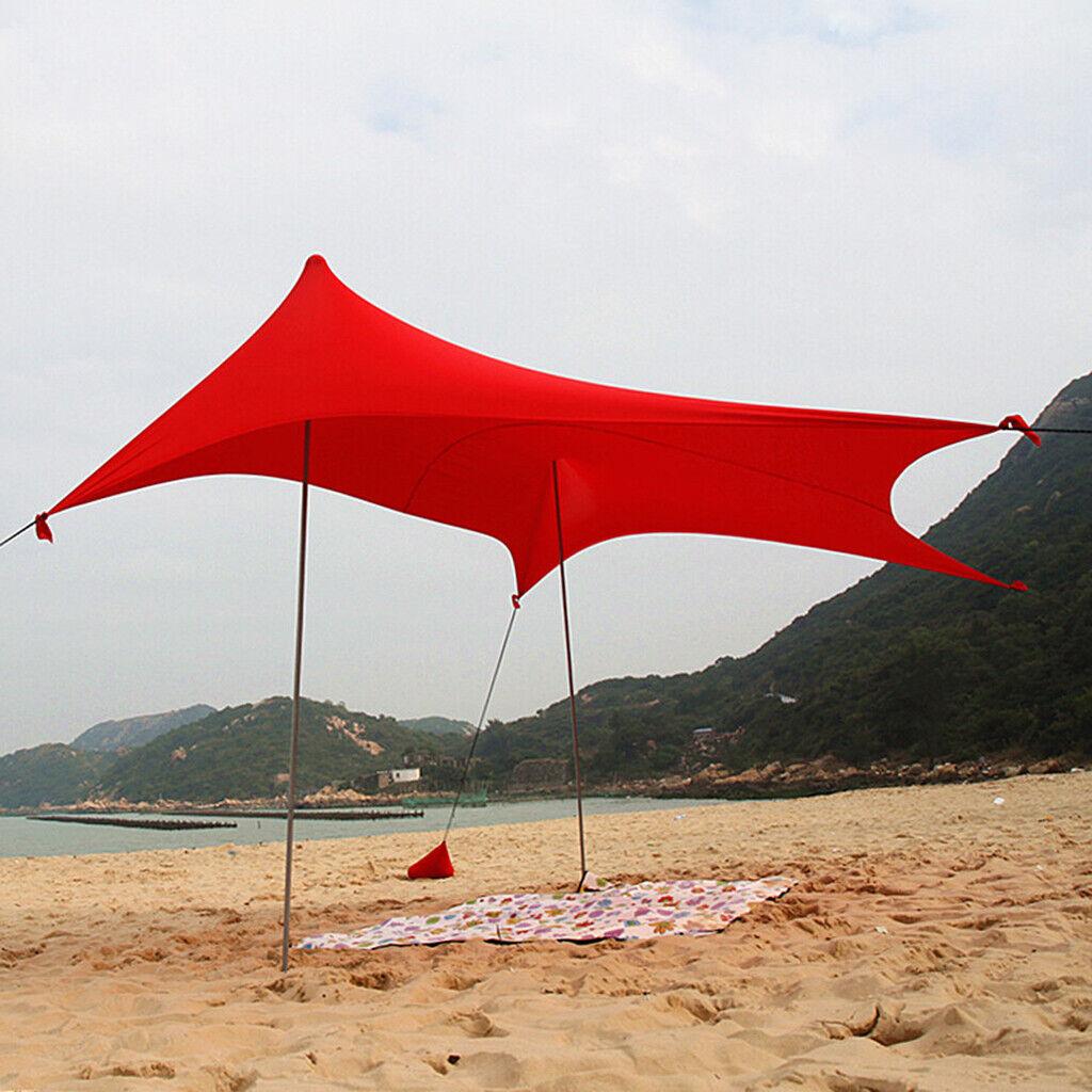 Outdoor Impermeabile Tenda campeggio Riparo Pioggia Sole Ombra PICNIC SPIAGGIA TELO