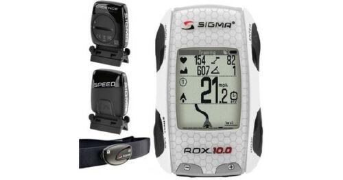 WIRELESS COMPUTER New White Sigma ROX 10.0 GPS ANT FULL SET