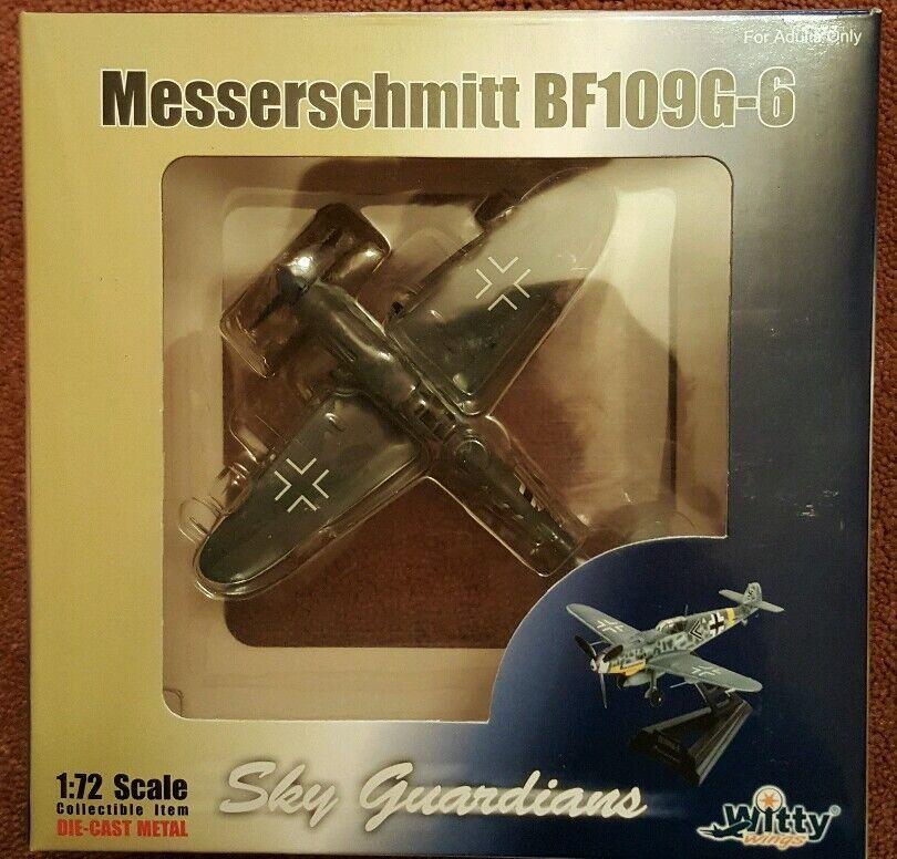 Witty Wings Sky Guardians BF109G-6 Messerschmitt WTW-72-003-004 1 72 NEW