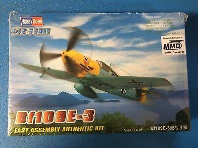 Hobby Boss 1//72 Messerschmitt Bf109E-3 Easy Assembly # 80253