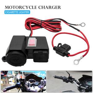 12VCargador-Adaptador-toma-corriente-Salida-12v-Impermeable-Motocicleta-Moto-USB