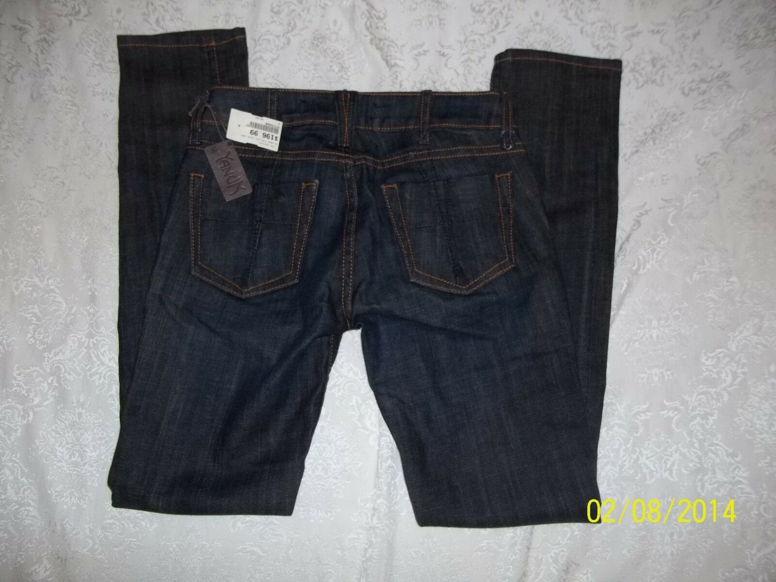 NWT YANUK DK WASH T-STITCH PAGE JEANS W 25 RET  MADE IN USA NICE MUST SEE