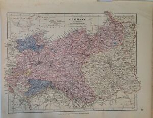 Stanfords map germany eastern c1880 london atlas universal image is loading stanford 039 s map germany eastern c1880 london gumiabroncs Gallery
