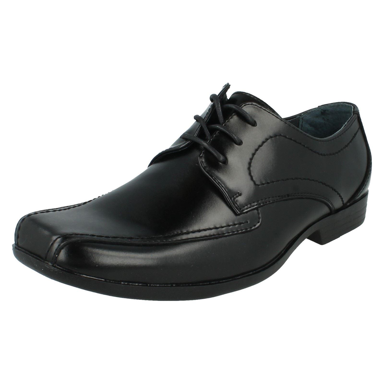 Hombre Easton RALSTON Un Negro Zapato de Hush cuero con cordones de Hush de Puppies 64d508