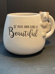 1 Pacifica Home Ceramic Be Your Own Kind Of Beautiful Coffee Mugs Cat Ebay