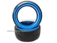 COPPIA DI GOMME DRIFT SCOLPITE 1/10 ON ROAD TIRE-003-C DRIFTING TYRES 2PCS VRX