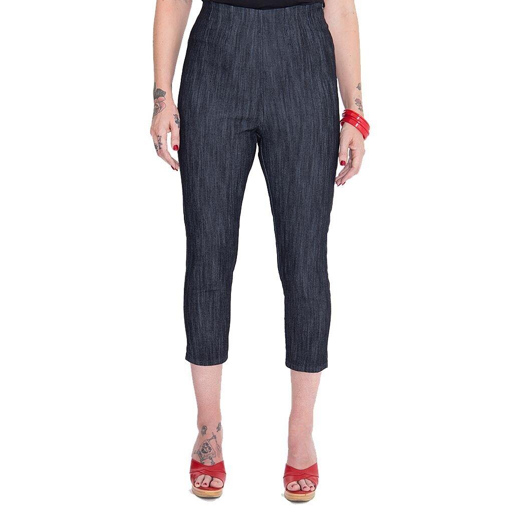 Queen cherosane cherosane cherosane Rockabilly Vintage Capri Jeans Pantaloni-Wild & Free Denim rosa 326ff0