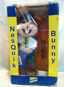 Nesquik-Nestle-Quick-Quik-BUNNY-PLUSH-SURFER-Collectible-1999-New-In-Box