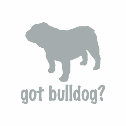 ebn1263 Got Bulldog Dog Multiple Color /& Sizes Vinyl Decal Sticker