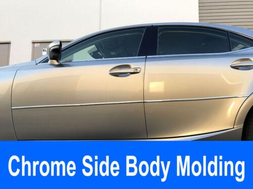 For Pontiac 2000-2010 vehicle 2pc Chrome//Silver Side Body Trim Molding Kit