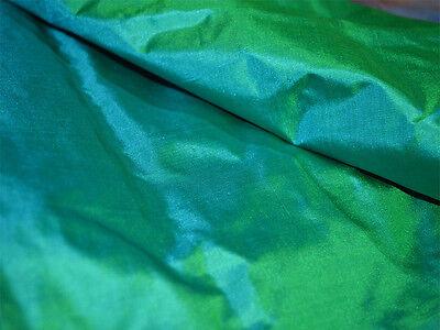 Peacock Green Plain Silk Fabric Pure Silk Fabric