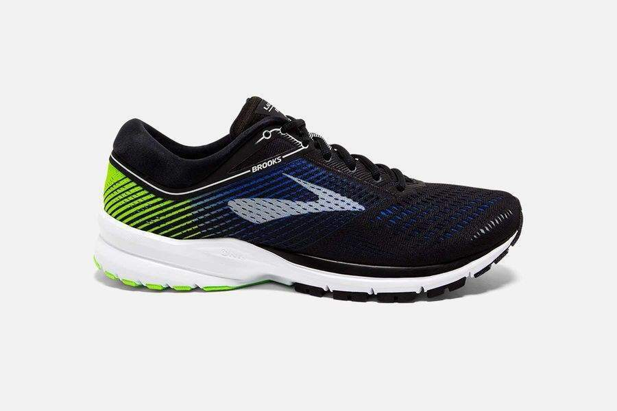 MEN'S BROOKS LAUNCH 5 BLACK/BLUE/GREEN RUNNING SHOES MEN'S SELECT YOUR SIZE