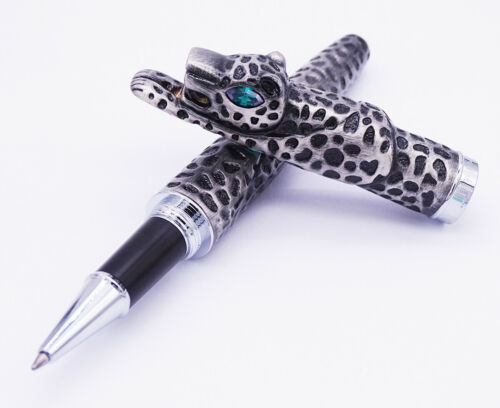 Jinhao Gray Leopard Panther Shape Rollerball Pen Office Writing Gift Pen