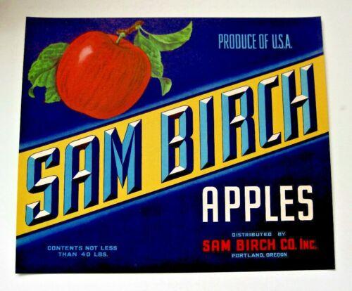 SAM BIRCH Apples Crate Label Portland OR