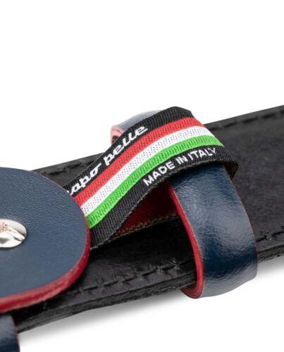 Black suede belt with Custom blue buckle Men/'s belts Genuine leather Capo Pelle