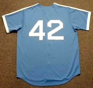 first rate 3748e bb16e Details about JACKIE ROBINSON Brooklyn Dodgers Majestic Cooperstown  Throwback Baseball Jersey