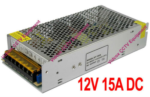 DC 12V 15A Regulated Switching Power Supply Adapter for CCTV Security Camera DVR