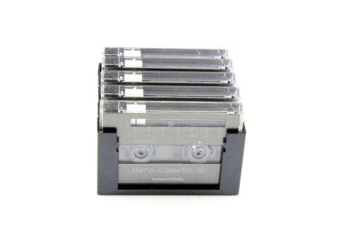 5er Pack inkl Halterung getestet Grundig Steno Cassette 30 gebraucht