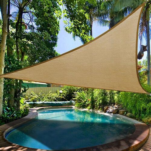 Sunshade Sail Triangle Cloth Canopy Tent Garden Patio Outdoor Sunscreen Tent CB