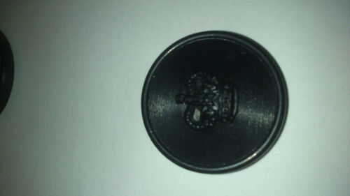 8 POLICE GREATCOAT BUTTONS WITH CROWN
