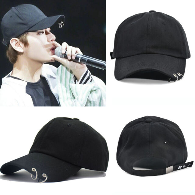 aeed1f4c474 Adjustable KPOP BTS Live The Wings Tour Hat Bangtan Boys Ring Baseball Cap  Black for sale online