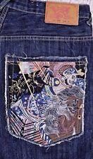 Hanji Premium Embroidered Japan Hip Hop Jeans Short Pants  Men's 34x18 1/2