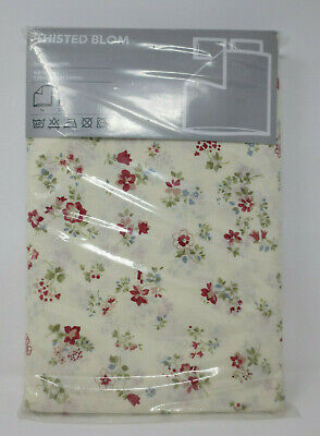 Ikea Thisted Blom Red Green Cream Floral Full/queen Duvet & Pillow Shams Fashionable 4pc Style; In