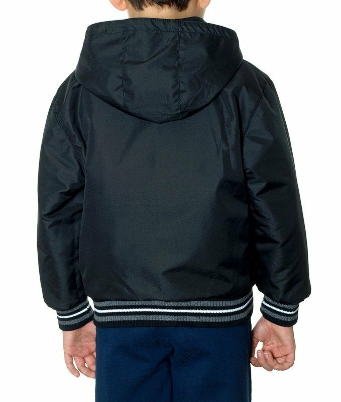 """Ford Mustang Jacket Reversible Nylon Wool Hooded Faux Leather Kids Boys /""""BLOWOUT"""